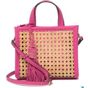 Vince Camuto Indra Woven Mini Bag Pink